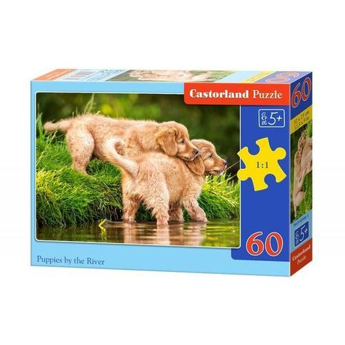 Castorland Puzzle 60 el. b-06946-1 puppies by the river