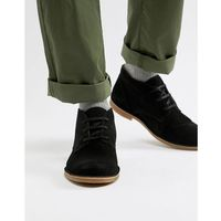 Selected Homme suede desert boot with teddy lining - Black