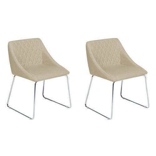 Zestaw do jadalni 2 krzesła beżowe ARCATA