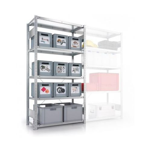 Meta Regał półkowy clip, 100 kg, 2500x1000x600 mm, podstawowy