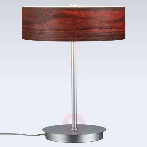 Liska - lampa stołowa z drewnianym kloszem marki Paulmann