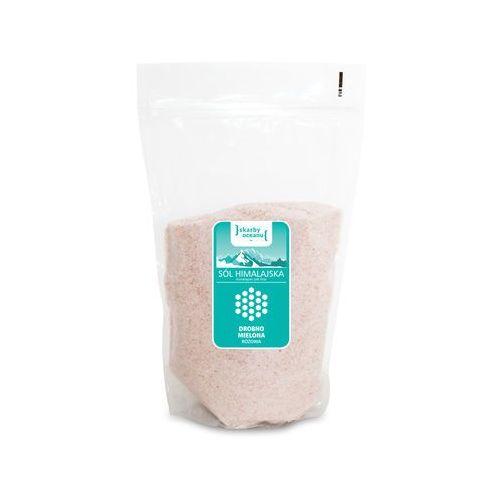 OKAZJA - Sól him. róż. drobno mielona bio 1 kg -skarby oce marki Skarby oceanu (sól morska)