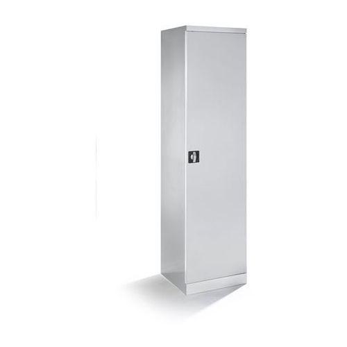 Quipo Szafa na materiały, szer. 500 mm, 4 wysuwane półki, drzwi jasnoszare. z wysuwany