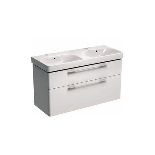 KOŁO szafka + umywalka podwójna bez otworów na baterie Traffic 120 biały połysk 89441-000+L91021000