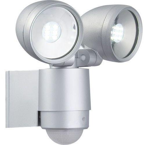 Globo Kinkiet lampa oprawa ścienna zewnętrzna radiator ii z czujnikiem ruchu 2x3w led srebrny 34105-2s (9007371227303)