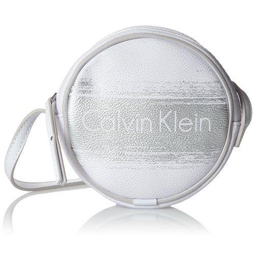 Calvin Klein dżinsy Melissa Brushed Mini torebka damska torba na ramię 4 x 14 x 14 cm (szer. x wys. x głęb.), biały (White/Silver 902) (8718933565580)