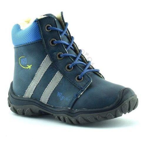 Buty zimowe dla dzieci Wojtyłko 11677 - Niebieski ||Granatowy