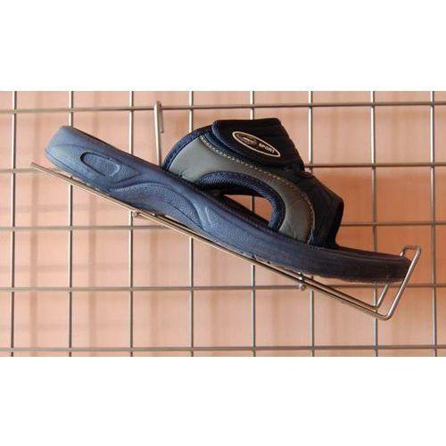 Uchwyt na kratę, metalowy do prezentacji obuwia itp. - prawy, w kolorze srebrnym, 00646