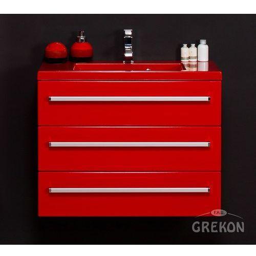Czerwona szafka wisząca z umywalką 80/39/3cz seria fokus cz marki Gante