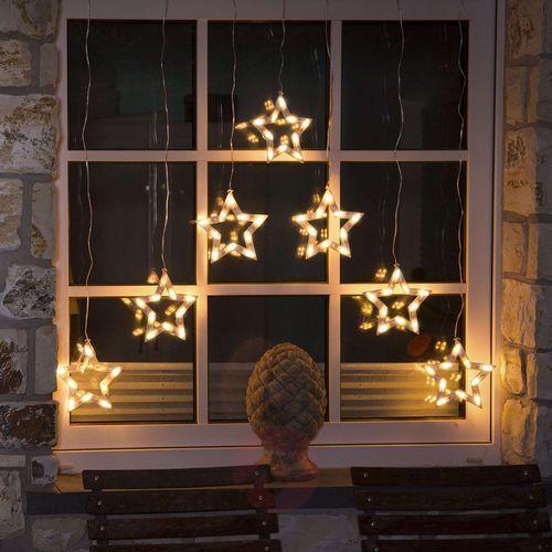 Kurtyna świetlna konstsmide 4043-103, led, zewnętrzne, 24 v, ilość żarówek= 70, ciepły biały, (sxw) 72 cm x 118 cm marki Konstmide christmas