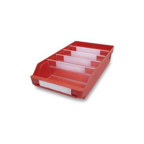 Skrzynka regałowa z wysokiej jakości, odpornego polipropylenu,czerwona