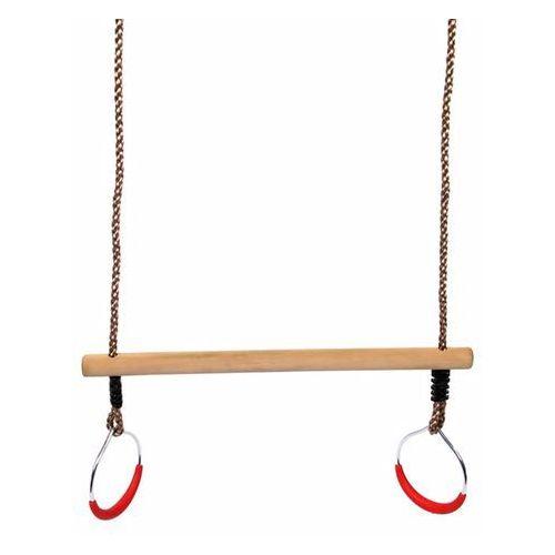 Swing king trapez z obręczami, drewniany, beżowy, 58 cm, 2521076 (8717306715102)
