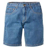 Bermudy dżinsowe z elastycznym paskiem Classic Fit bonprix niebieski