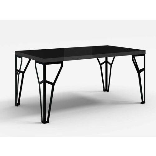 Stół z metalowymi nogami atlas czarny połysk marki Decoartimo