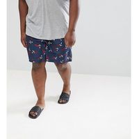 Polo Ralph Lauren Big & Tall Traveller Anchor Print Swim Shorts Player Logo in Navy - Navy, w 2 rozmiarach