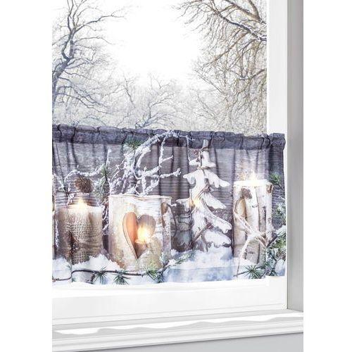 """Bonprix Zazdrostka led """"zimowy krajobraz"""" biały z nadrukiem"""