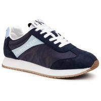 Calvin klein Sneakersy jeans - jerrold s0615 navy/chambray blue