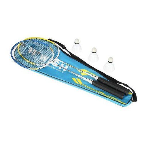Zestaw rakiet do badmintona alumtec 327k + lotki marki Wish