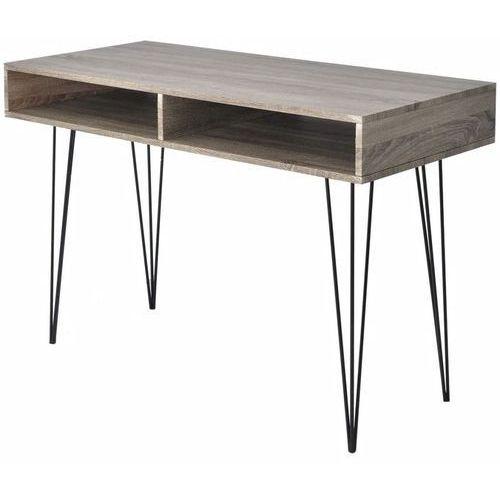 biurko z 2 półkami, szare marki Vidaxl