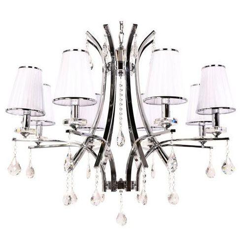Lumina deco Żyrandol kryształowy glamour w8 white ldp 66247-8 (wt) - - sprawdź kupon rabatowy w koszyku (5907739373557)