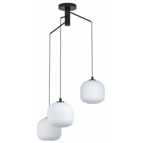 Eglo mantunalle 99368 lampa wisząca zwis 3x40w e27 czarna/biała