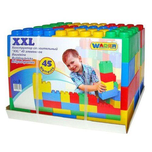 Wader quality toys Klocki budowniczy xxl 45 elementów - wader. darmowa dostawa do kiosku ruchu od 24,99zł