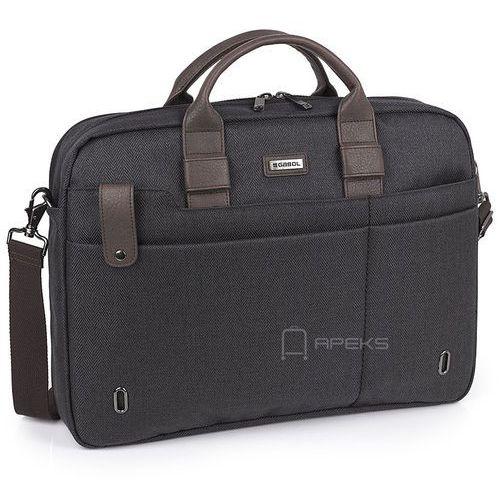 "Gabol master torba na ramię / na laptopa 15,6"" / szary"
