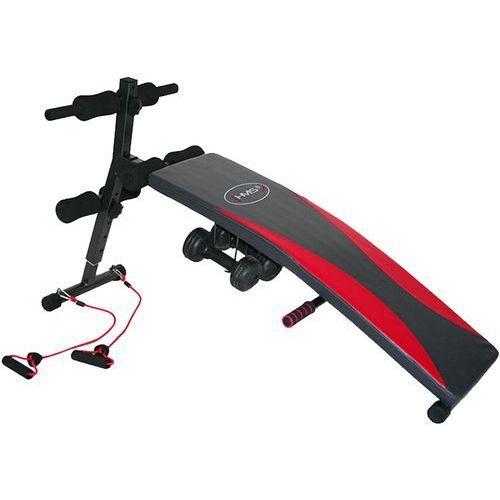 Hms  ławka skośna do ćwiczeń treningowa +linki + hantle (5907695588262)