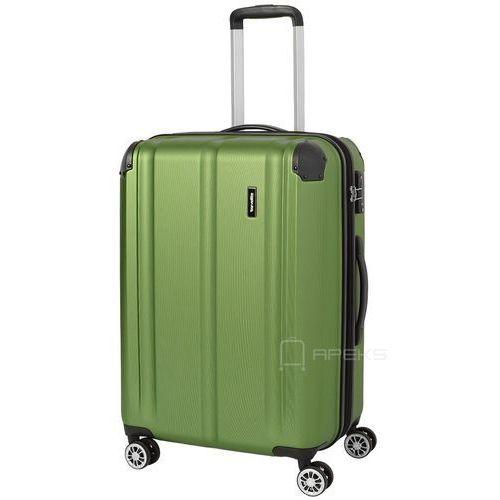 Travelite city średnia walizka poszerzana 68 cm / zielona - zielony (4027002061590)