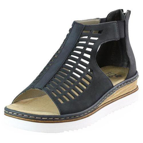 Sandały Rieker 679F5-14 Granatowe