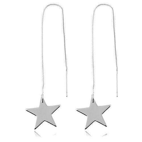 Kolczyki długie gwiazdy srebrne - SREBRNE