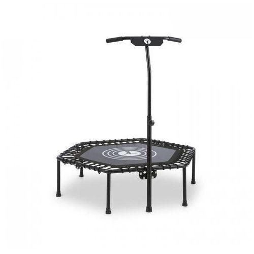 """KLARFIT Jumpanatic trampolina fitness 44"""" / 112 cm Ø drążek z uchwytem składana czarna (4260509687522)"""