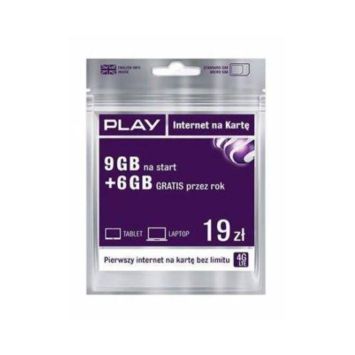 Play Starter internet na kartę 9gb na start + 6gb gratis przez rok 19pln (5907782185763)