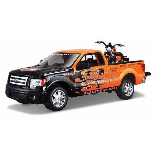 Maisto zestaw h-d custom ford f-150 stx + motocykl harley-davidson xl 1200n nightster 1/27