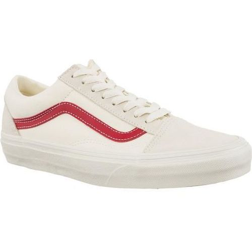 Vans OLD SKOOL R1T VINTAGE WHITE ROCOCCO RED - Buty Sneakersy