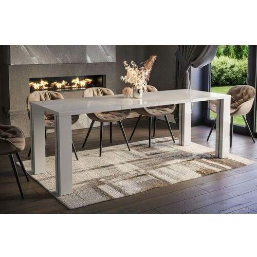 Stół Nisa rozkładany 130-265 biały połysk, en-0096