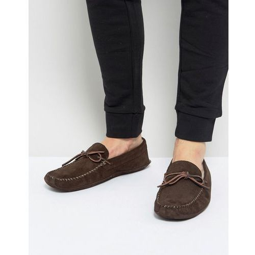 suede slippers in brown - brown, Pier one