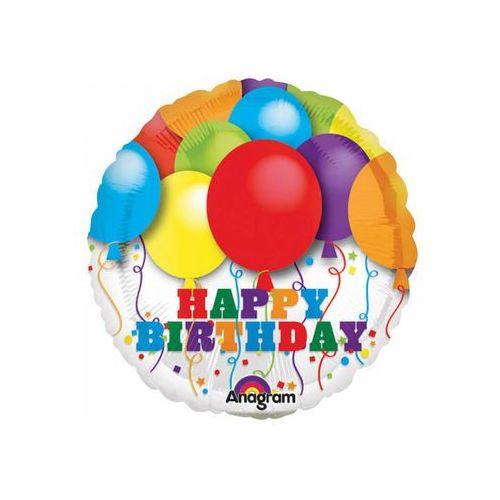Balon foliowy do patyka happy birthday - 23 cm - 1 szt. marki Amscan