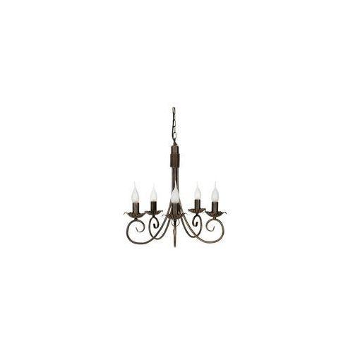 Nowodvorski Lampa wisząca płomyk 483 świecznikowa zwis v 5x60w e14 patyna