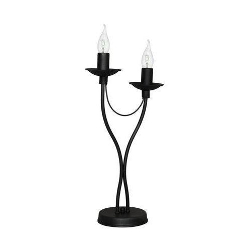 Lampa lampka oprawa biurkowa klasyczna świecznikowa Aldex Róza 2x40W E14 czarny 397B1M (5904798642013)