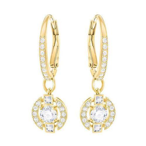 Swarovski Sparkling Dance Round Pierced Earrings, White White Gold-plated (9009652909632)