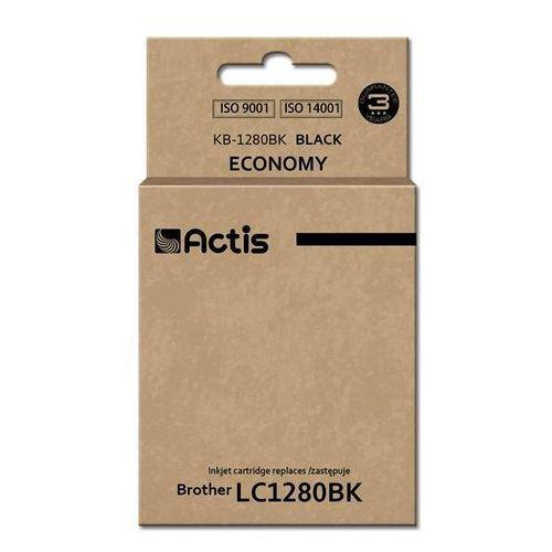 Actis Tusz kb-1280bk (do drukarki brother, zamiennik lc1280bk standard 60ml czarny)