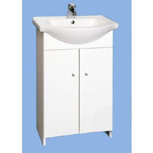 pola zestaw łazienkowy biała szafka d50 bez cokołu + umywalka 032-d-05017+1120 marki Deftrans