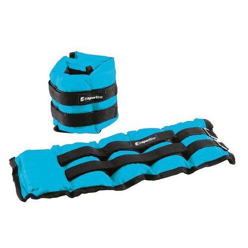 Insportline Regulowane obciążniki na kostki i nadgarstki blueweight 2x2 kg (8596084036919)