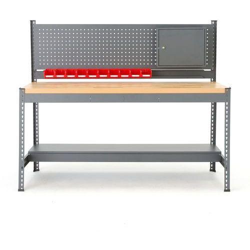 Stół warsztatowy combo, z panelem narzędziowym, 1530x1840x775 mm, dąb marki Aj produkty