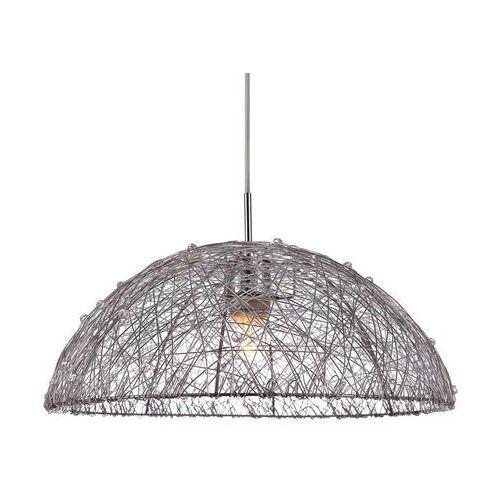 Italux Żyrandol lampa wisząca wyatt mdm2138/1 druciana oprawa metalowa loft kopuła srebrna (5900644404385)
