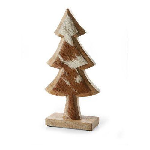 Bonprix Choinka drewniana z futerkiem brązowy