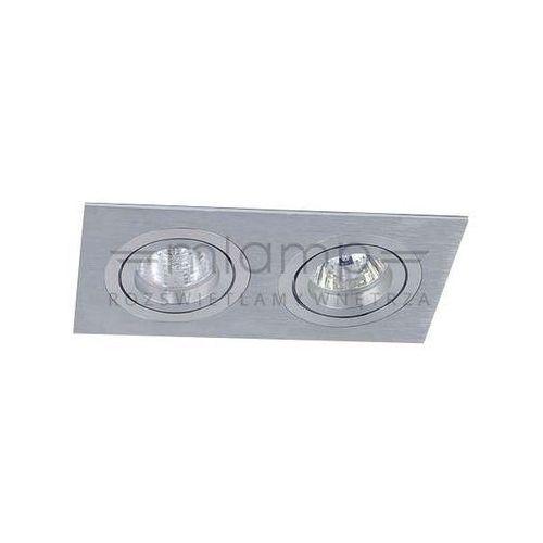 Orlicki design Oczko lampa sufitowa fasto ii led 6w allumino metalowa oprawa wpuszczana do zabudowy prostokątna aluminium