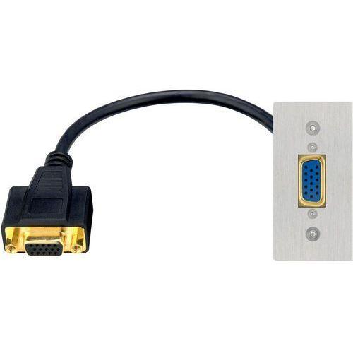 Panel z gniazdem VGA Inakustik 00980127256 980127256, [1x złącze żeńskie VGA - 1x złącze żeńskie VGA] (4001985501977)