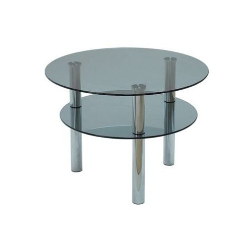 Szkłomal KÓŁKO MINI GRAFIT - Stolik szklany, średnica 50 cm